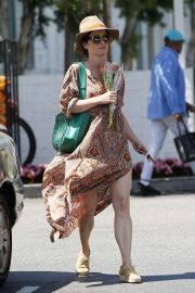 Robin Tunney in Summer Dress - Out and about in LA
