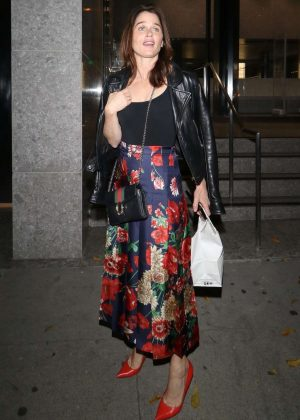 Robin Tunney - Leaving Craig's restaurant in West Hollywood