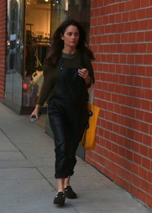 Robin Tunney on Bedford Drive in Beverly Hills