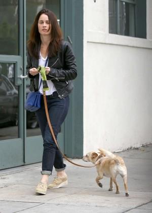 Robin Tunney - Walking her dog in LA