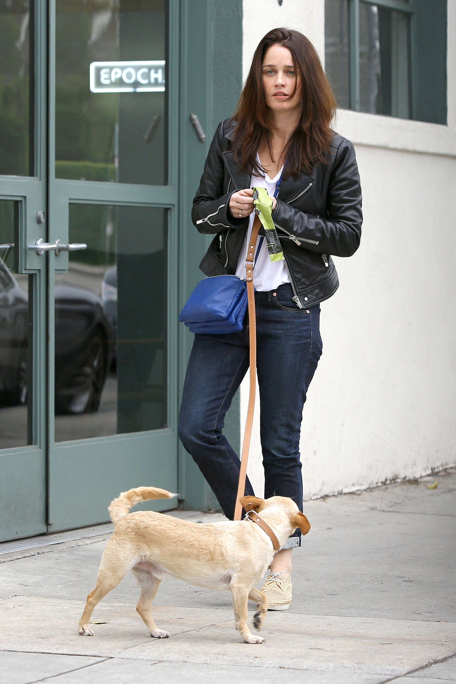 Photo of Robin Tunney & her Dog