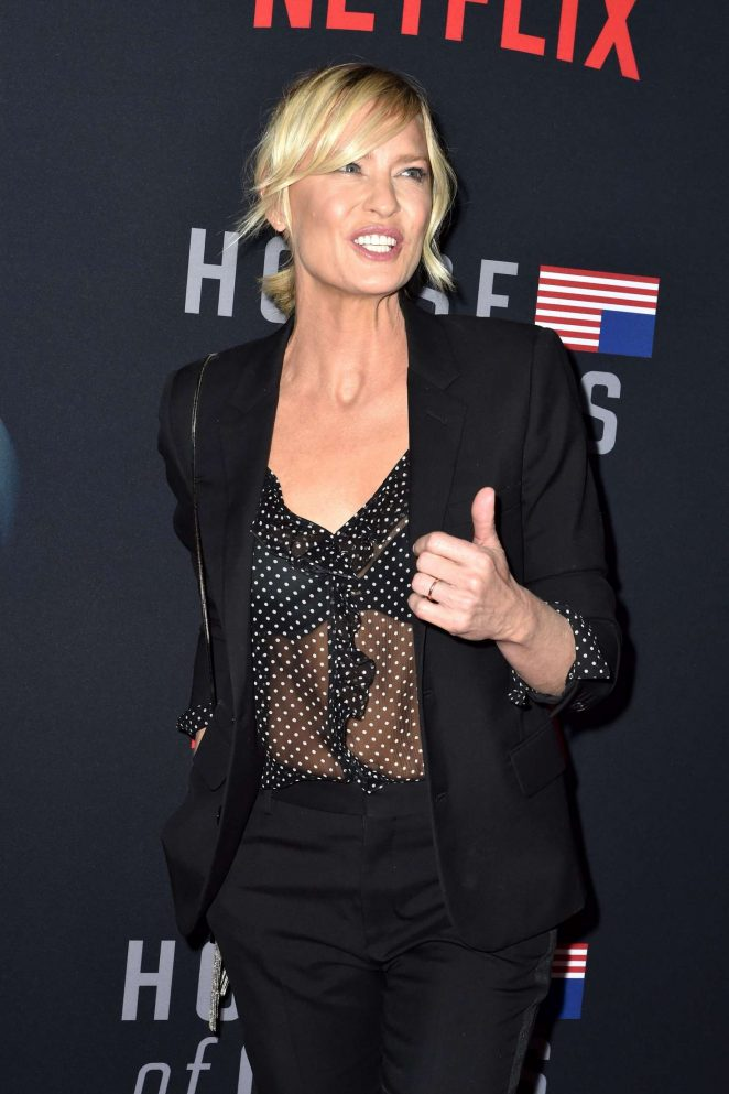 Robin Wright – 'House of Cards' Premiere in Los Angeles
