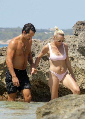 Robin Wright in Bikini at the beach in Formentera