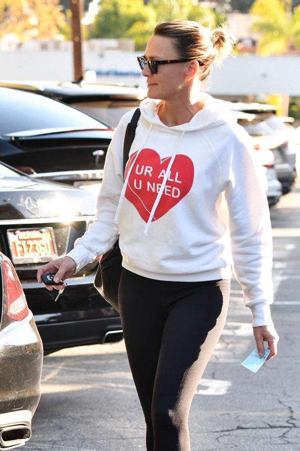 Robin Wright in Black Tights - Out in Santa Monica