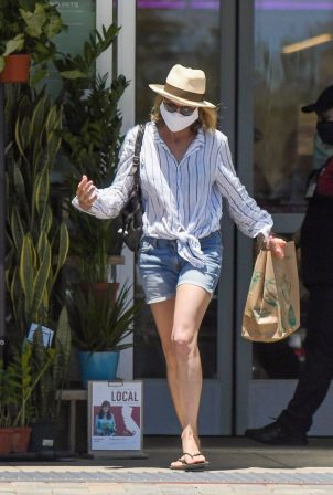 Robin Wright in Denim Shorts - Out in Pacific Palisades