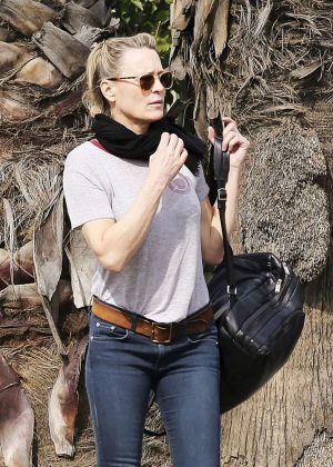 Robin Wright in Jeans Out in Santa Monica