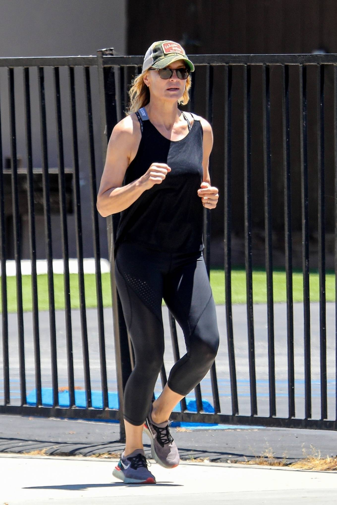 Robin Wright 2020 : Robin Wright – Out for a jog in Santa Monica-03