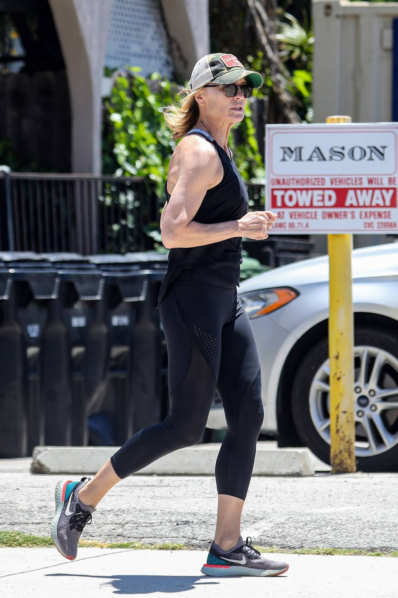 Robin Wright 2020 : Robin Wright – Out for a jog in Santa Monica-06