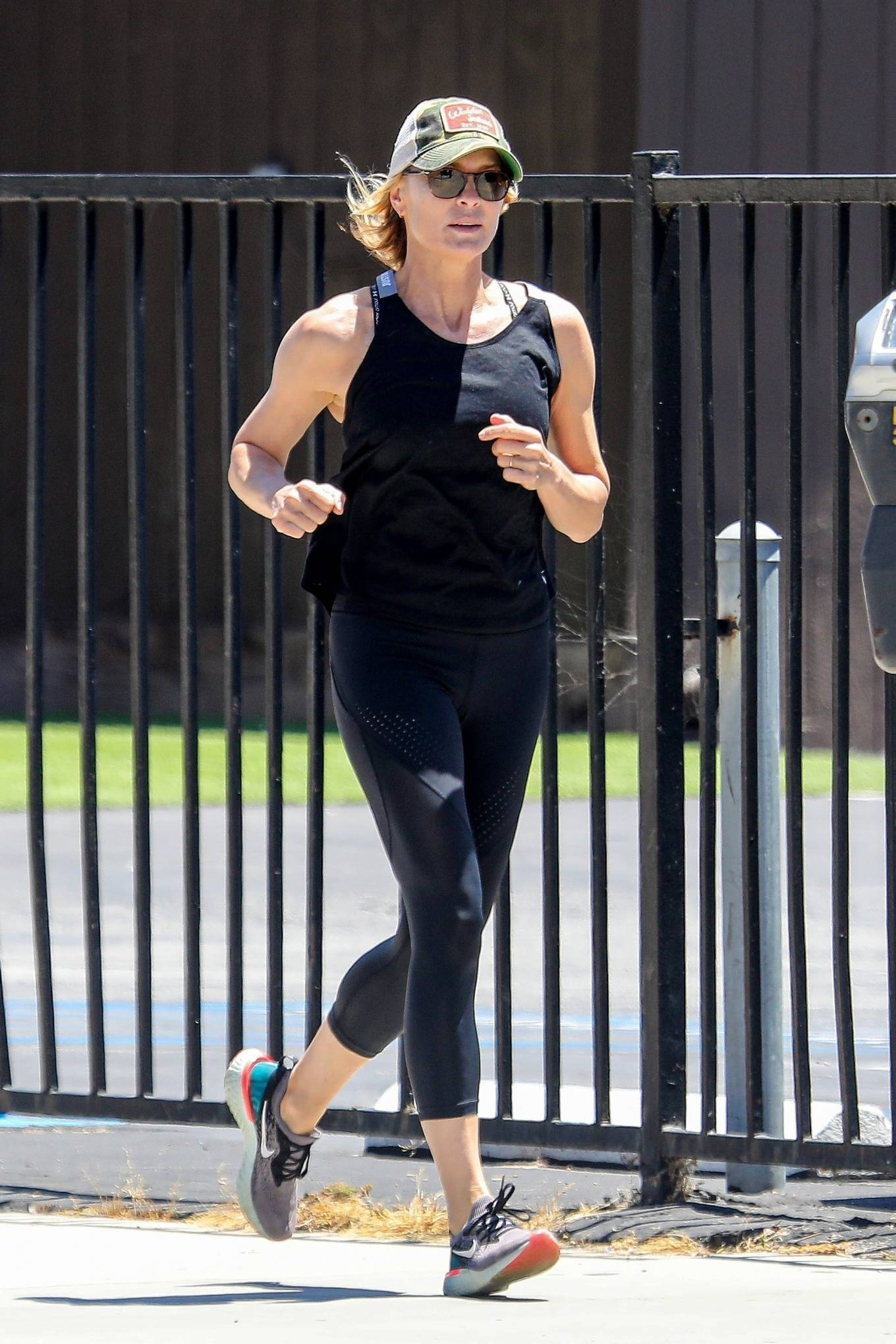 Robin Wright 2020 : Robin Wright – Out for a jog in Santa Monica-08