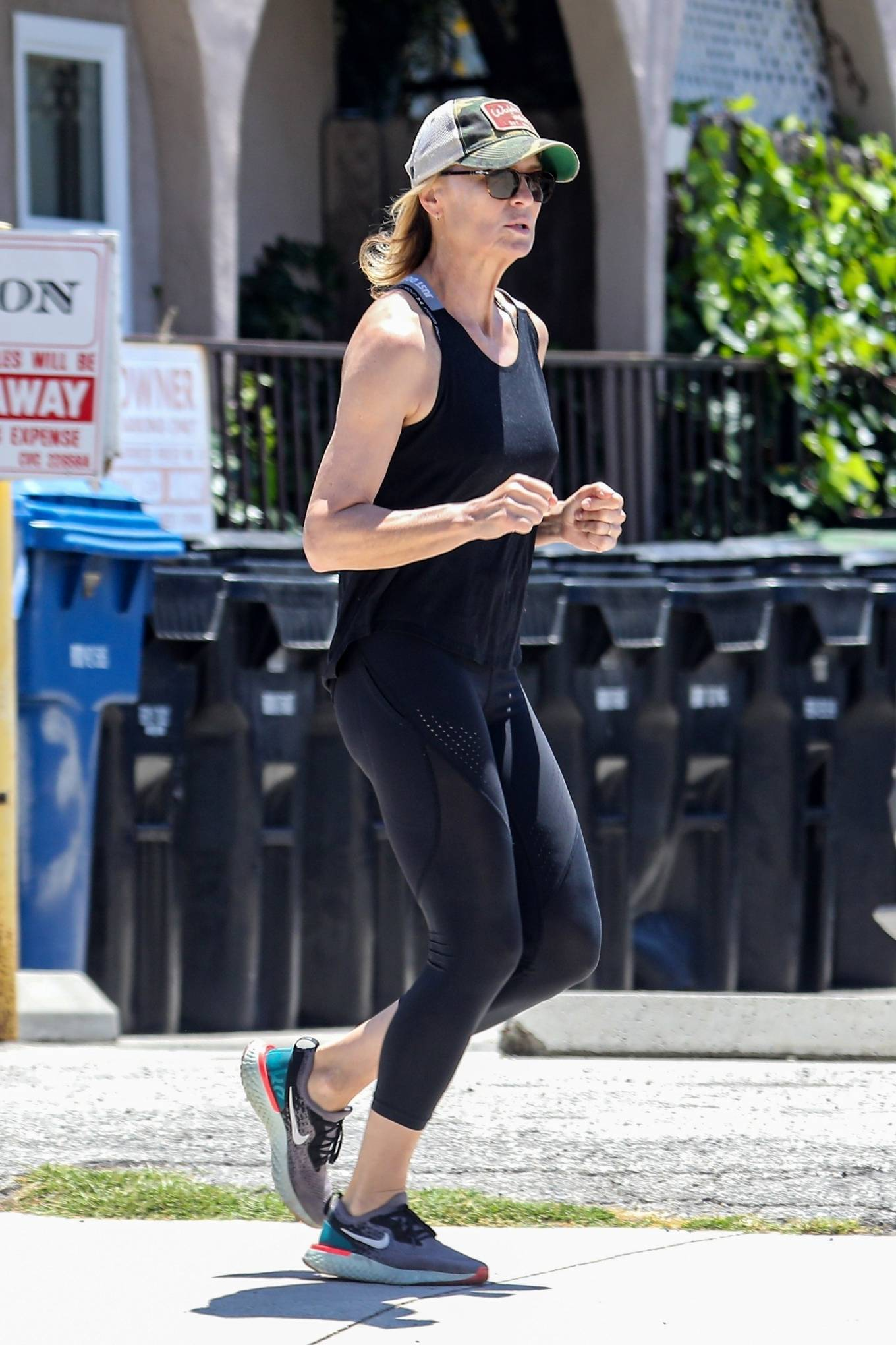 Robin Wright 2020 : Robin Wright – Out for a jog in Santa Monica-11