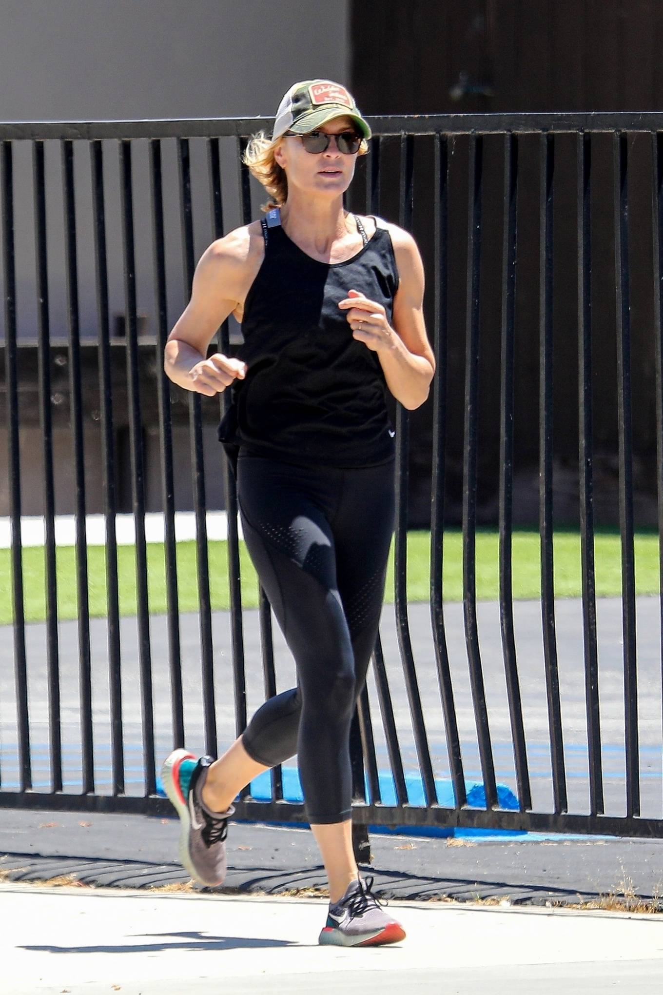 Robin Wright 2020 : Robin Wright – Out for a jog in Santa Monica-17