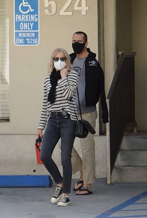Robin Wright - With her husband Clement Giraudet out in Los Angeles