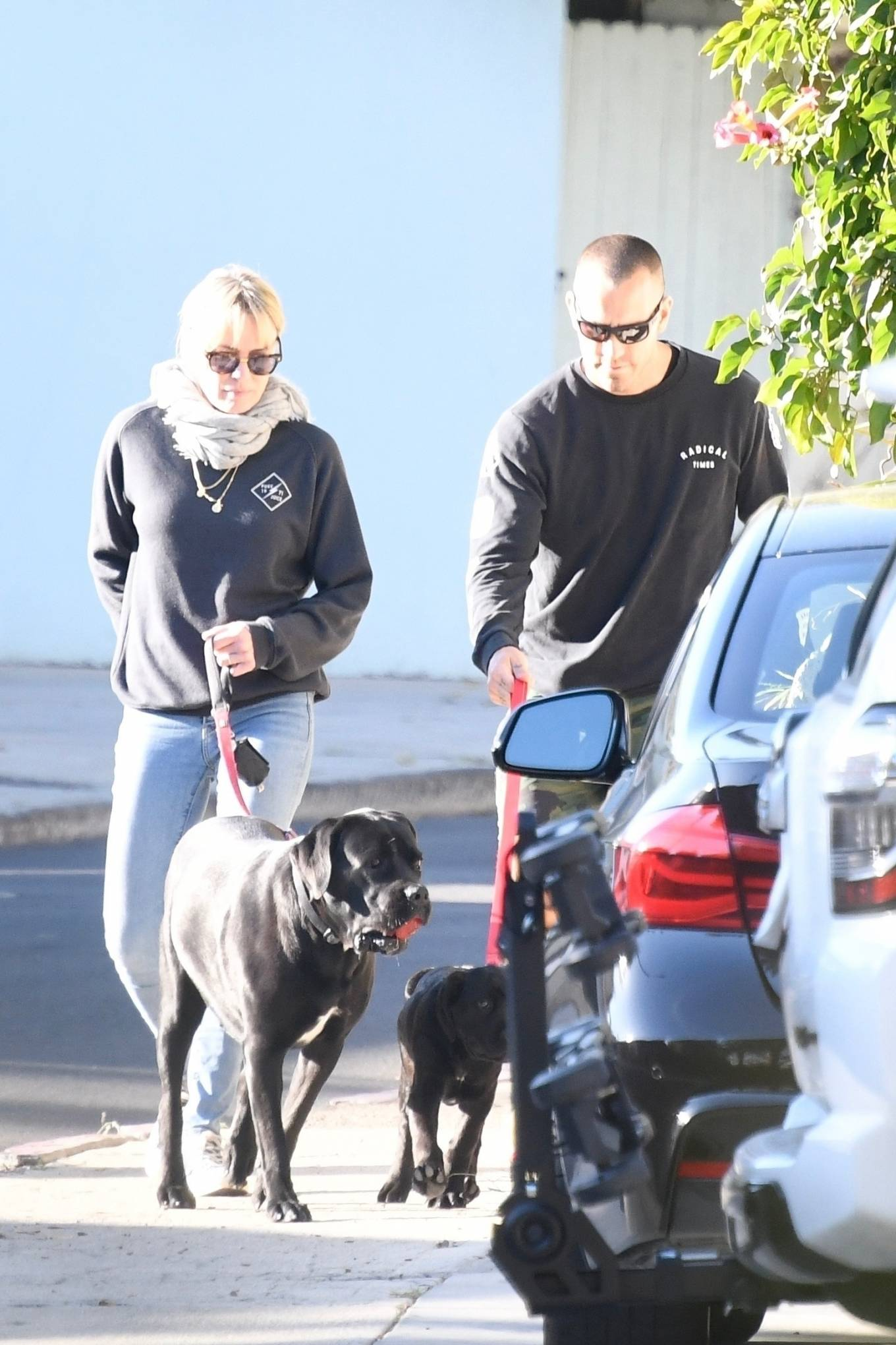 Robin Wright 2021 : Robin Wright – With her husband Clement Giraudet take their dogs out in Brentwood-01