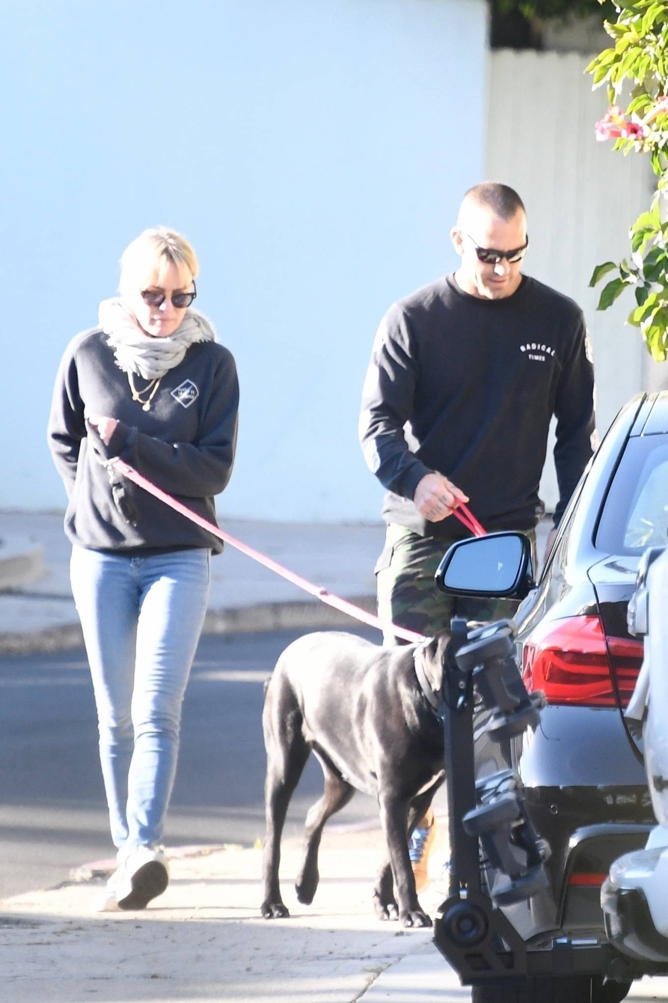Robin Wright 2021 : Robin Wright – With her husband Clement Giraudet take their dogs out in Brentwood-04