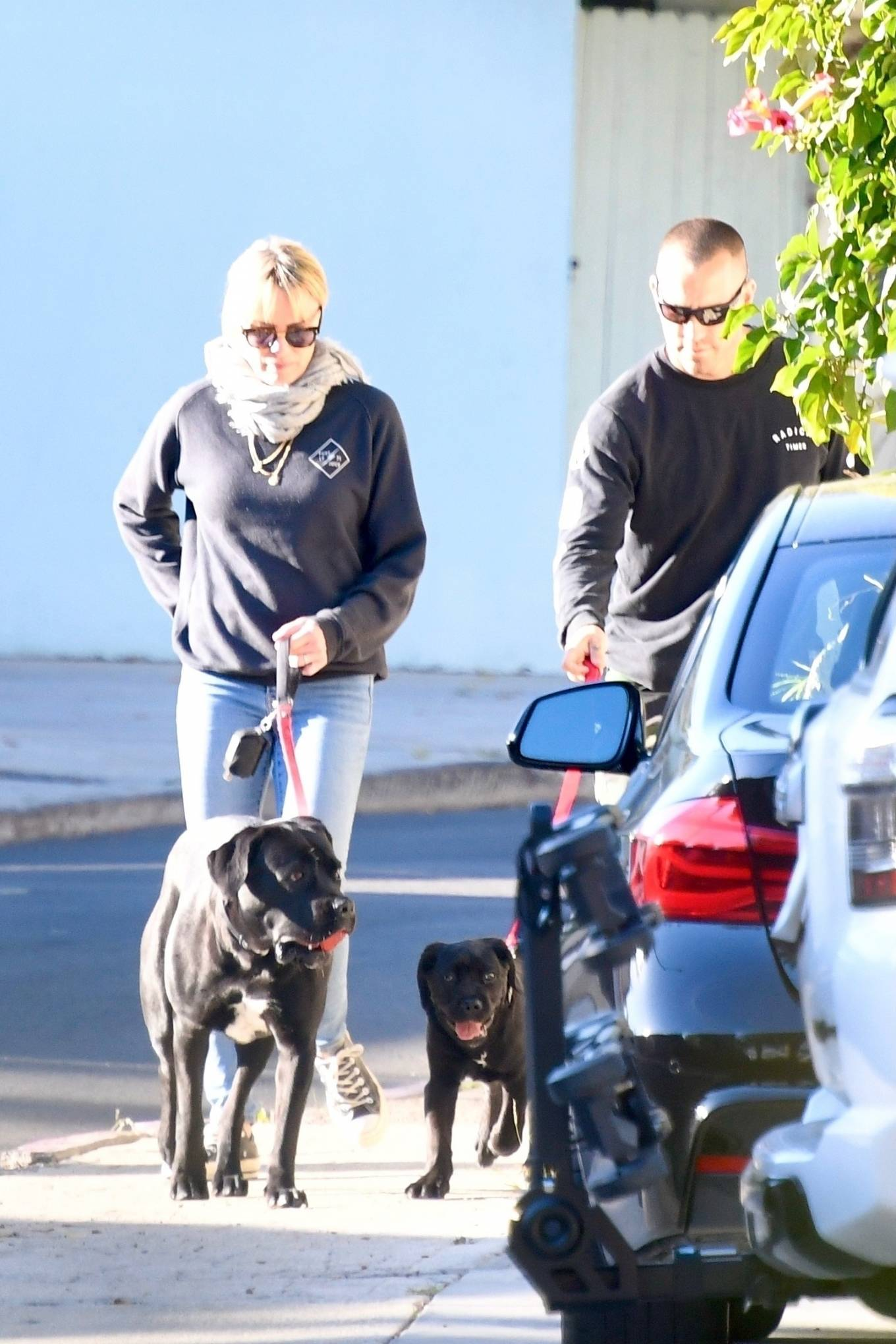 Robin Wright 2021 : Robin Wright – With her husband Clement Giraudet take their dogs out in Brentwood-06