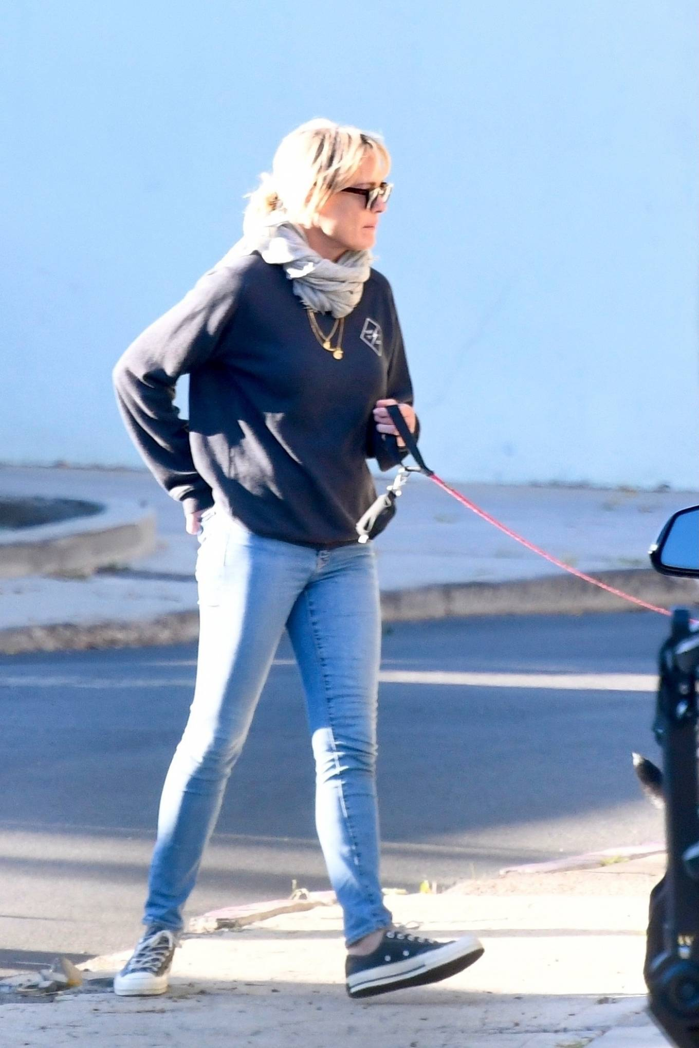 Robin Wright 2021 : Robin Wright – With her husband Clement Giraudet take their dogs out in Brentwood-08