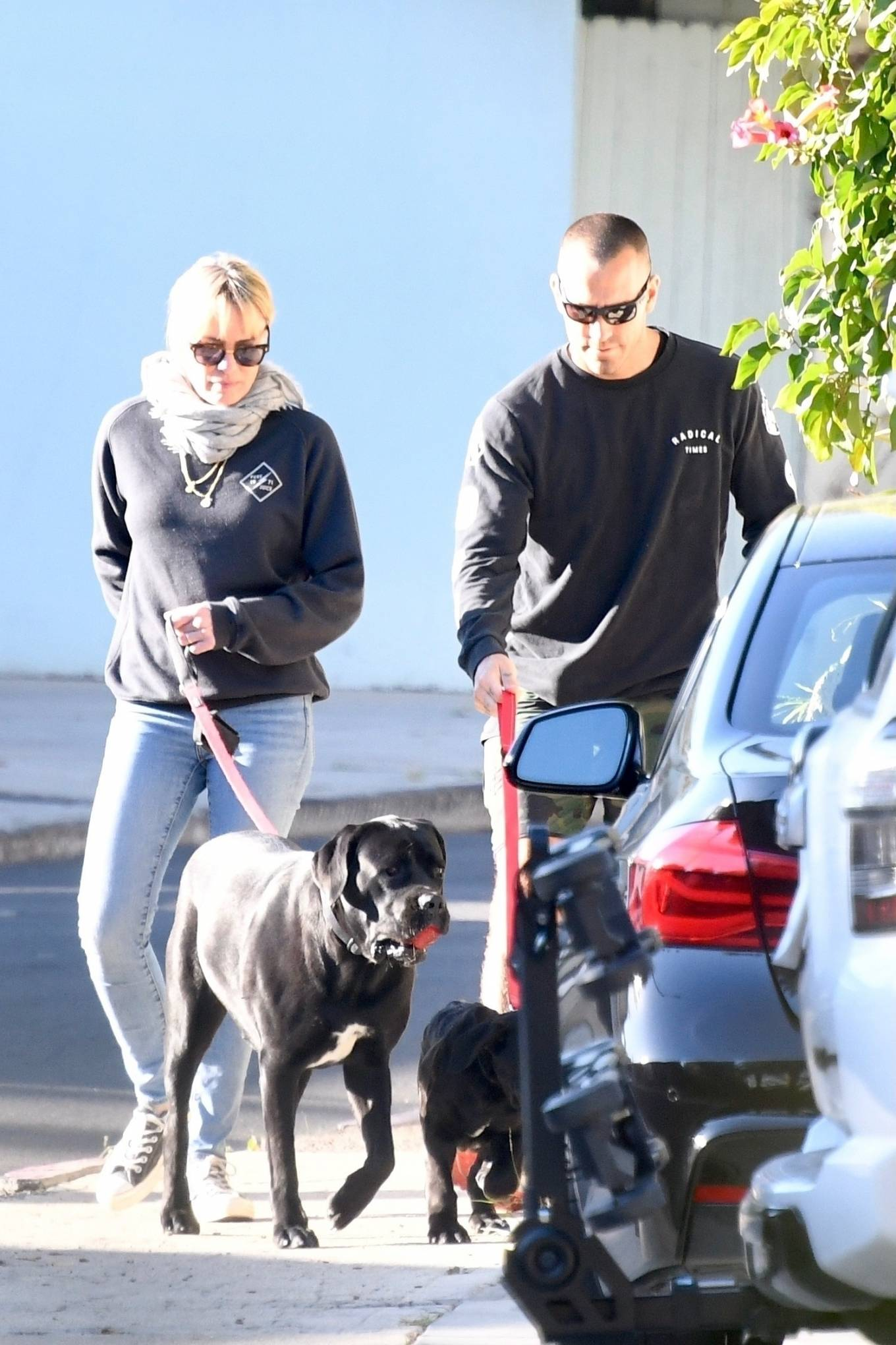 Robin Wright 2021 : Robin Wright – With her husband Clement Giraudet take their dogs out in Brentwood-11