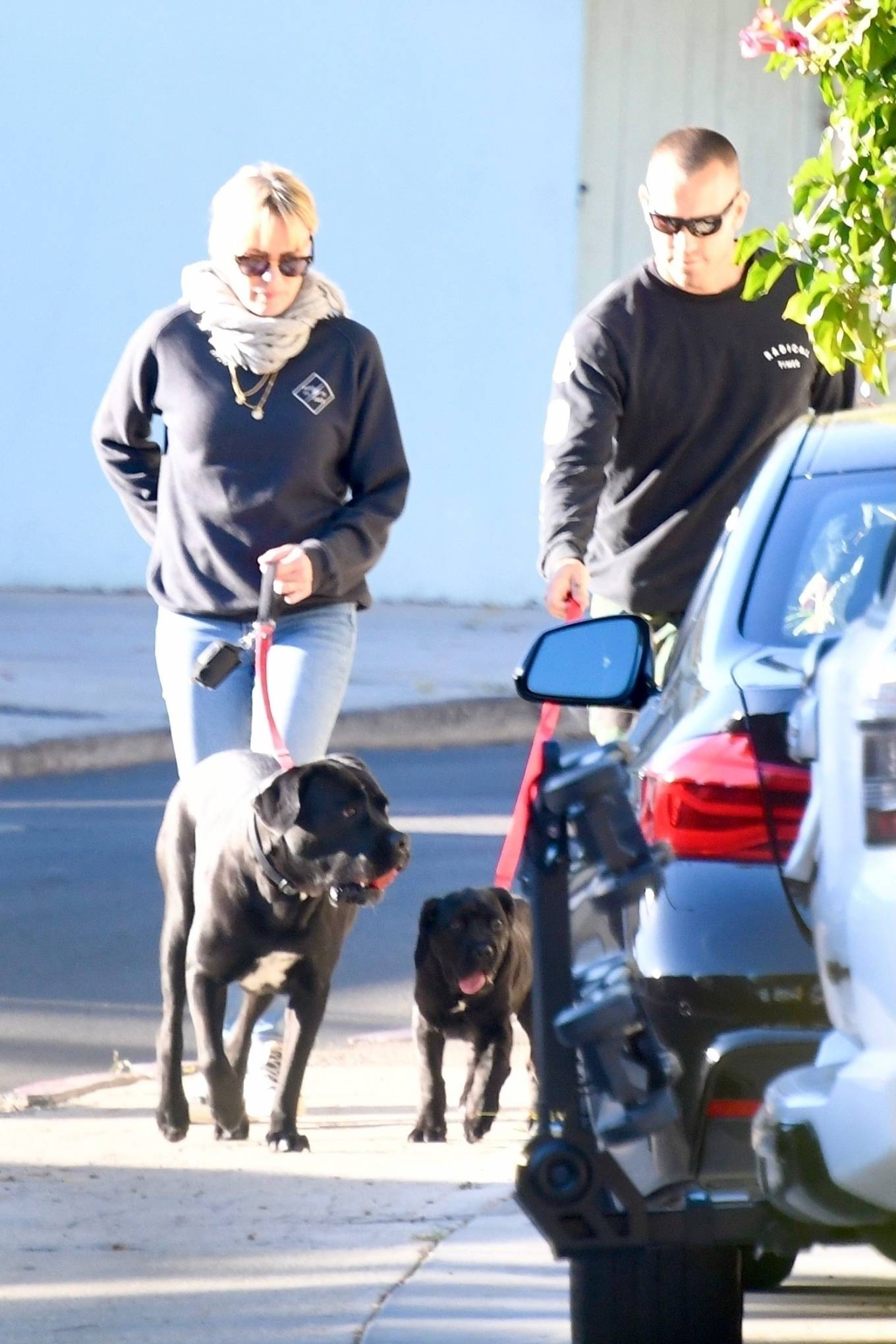 Robin Wright 2021 : Robin Wright – With her husband Clement Giraudet take their dogs out in Brentwood-12