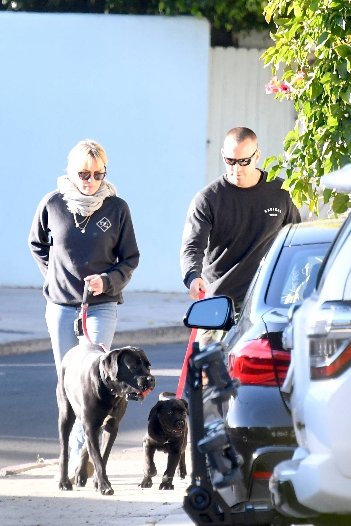 Robin Wright 2021 : Robin Wright – With her husband Clement Giraudet take their dogs out in Brentwood-13