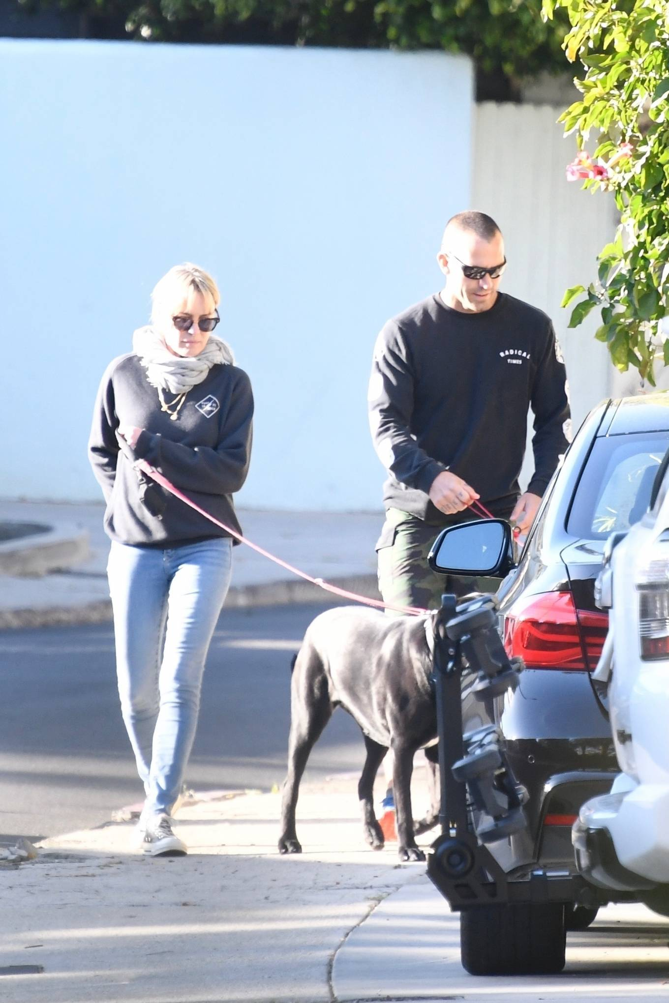 Robin Wright 2021 : Robin Wright – With her husband Clement Giraudet take their dogs out in Brentwood-14