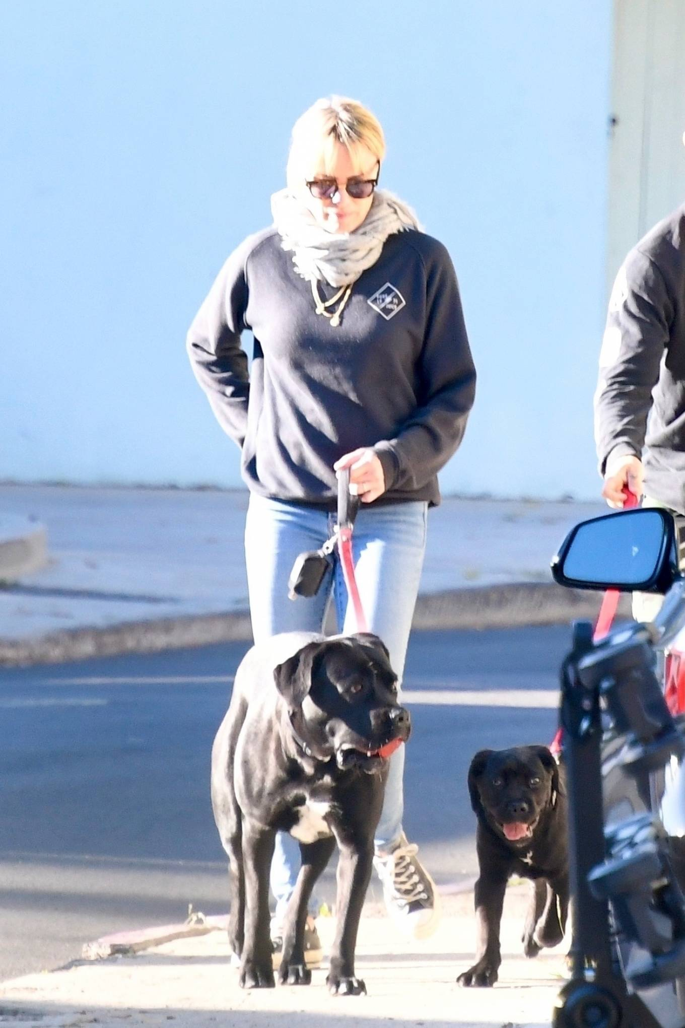 Robin Wright 2021 : Robin Wright – With her husband Clement Giraudet take their dogs out in Brentwood-15