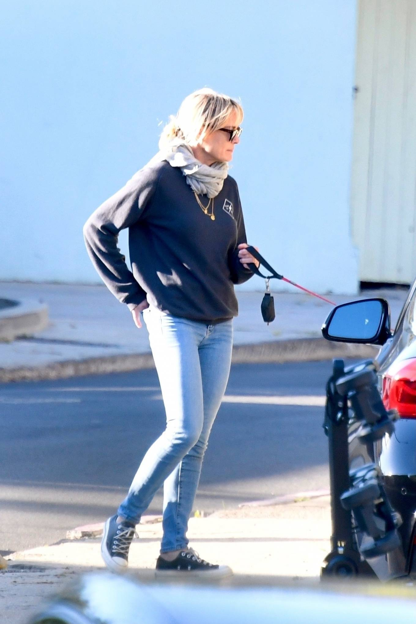 Robin Wright 2021 : Robin Wright – With her husband Clement Giraudet take their dogs out in Brentwood-17