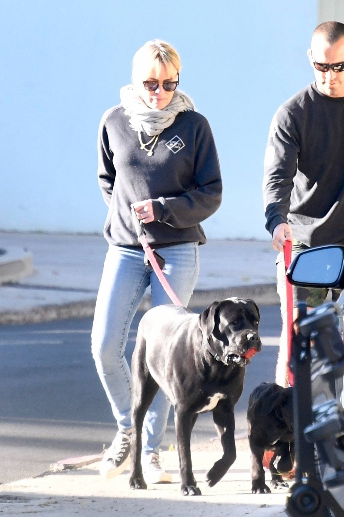 Robin Wright 2021 : Robin Wright – With her husband Clement Giraudet take their dogs out in Brentwood-18