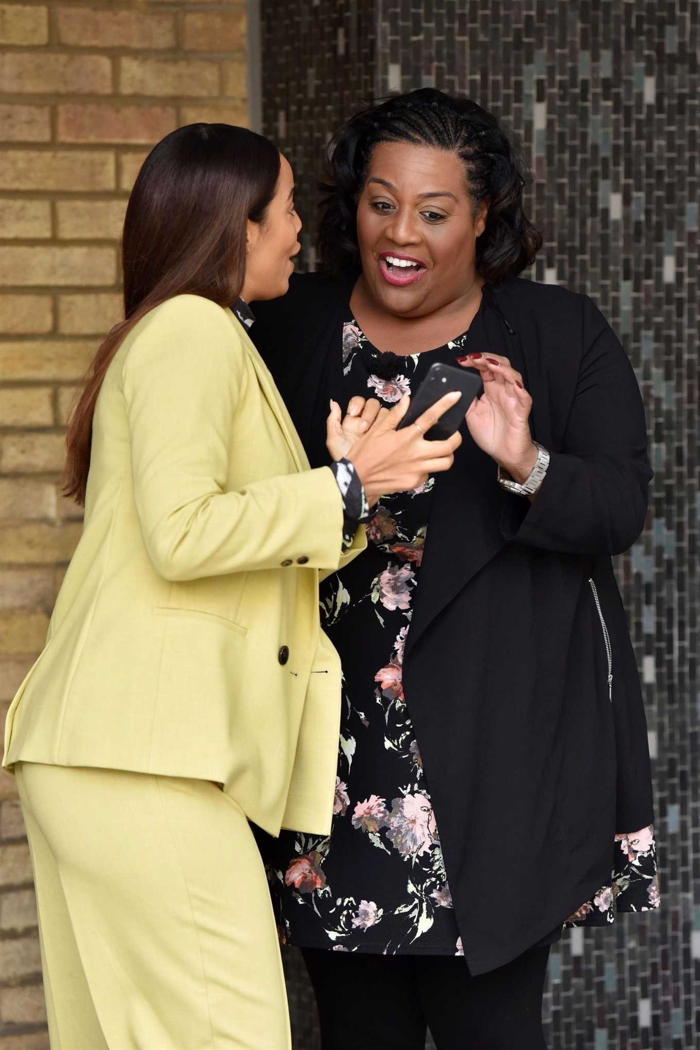 Rochelle Humes and Alison Hammond at the ITV Studios in London