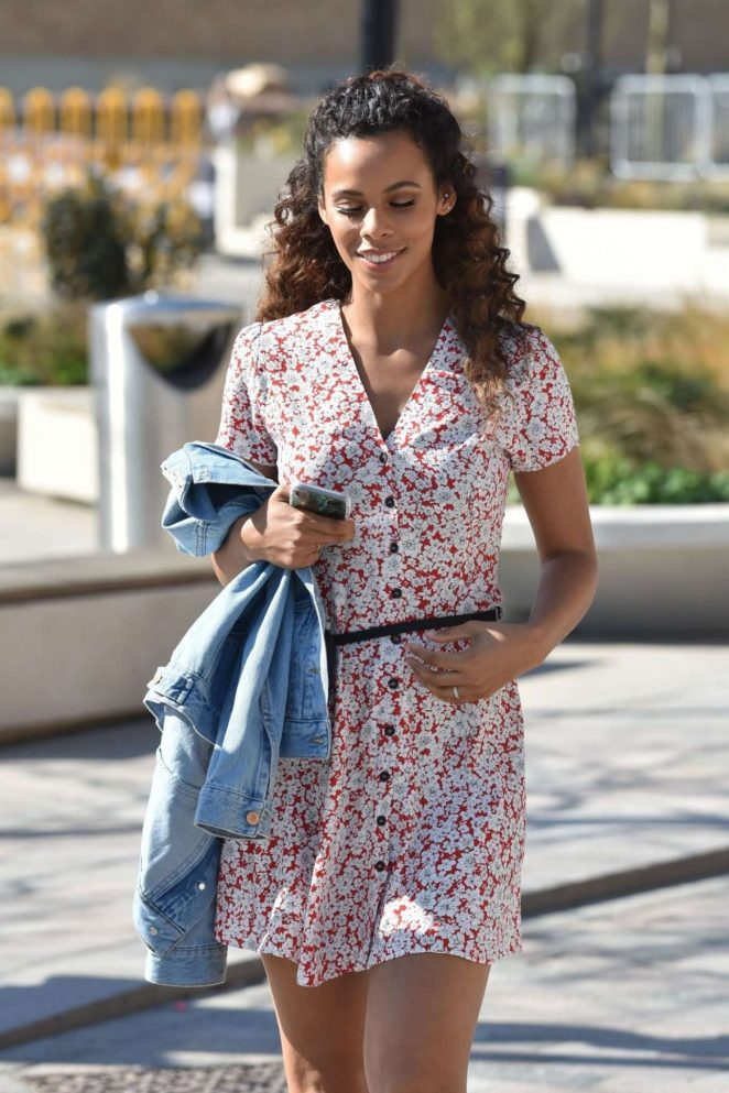 Rochelle Humes - Arrives at ITV Studios in London