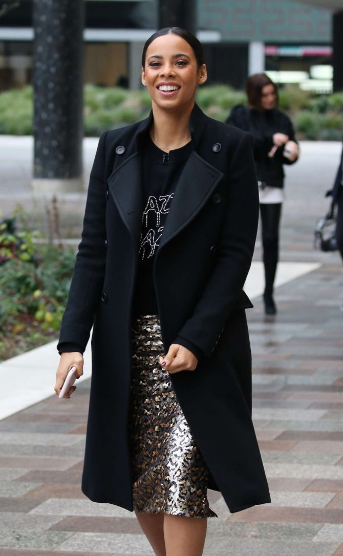 Rochelle Humes - Filming at ITV Studios in London