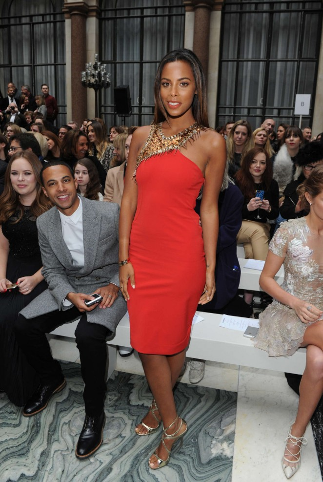 Rochelle Humes - Julien Macdonald Fashion Show 2015 in London