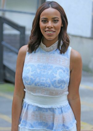 Rochelle Humes Leaving the studios in London