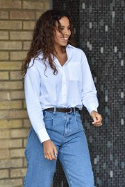 Rochelle Humes - Outside the ITV Studios in London