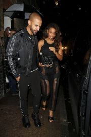 Rochelle Humes seen while leaving the Chiltern Firehouse in London