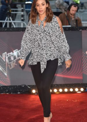 Rochelle Humes - 'The Voice' TV show photocall in Manchester