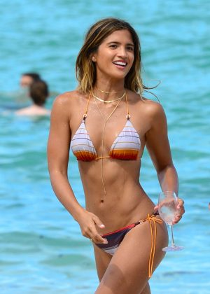 Rocky Barnes in Bikini on Miami Beach