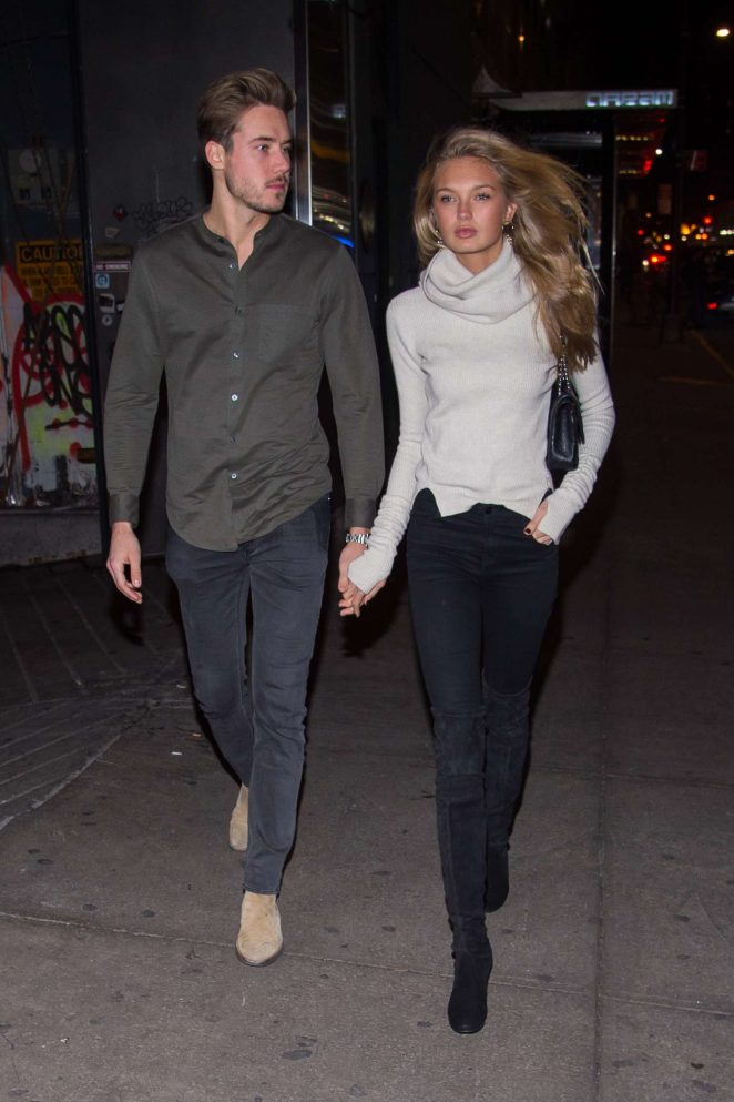Romee Strijd and Laurens van Leeuwen celebrate their anniversary in NYC