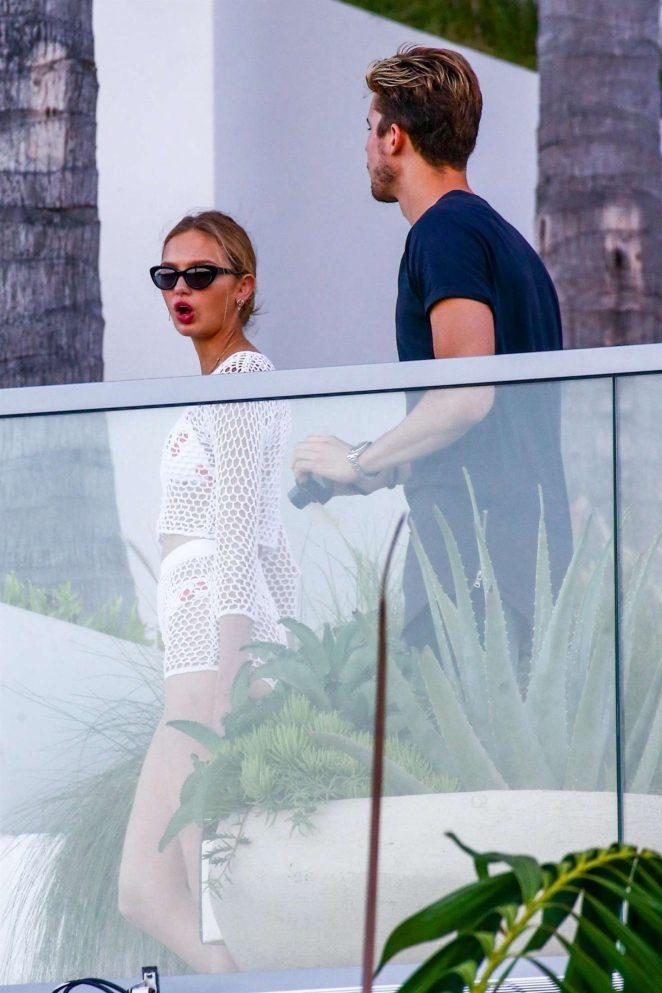 Romee Strijd and Laurens van Leeuwen out in Miami