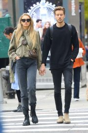 Romee Strijd and Laurens van Leeuwen out in New York City