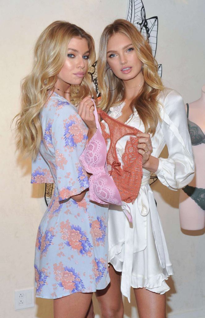 Romee Strijd and Stella Maxwell - Dream Angels Collection Launch in NYC