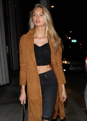 Romee Strijd at Catch LA in Los Angeles
