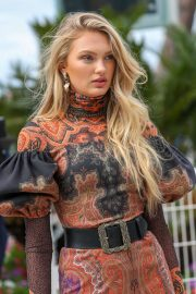 Romee Strijd at the Martinez Hotel in Cannes