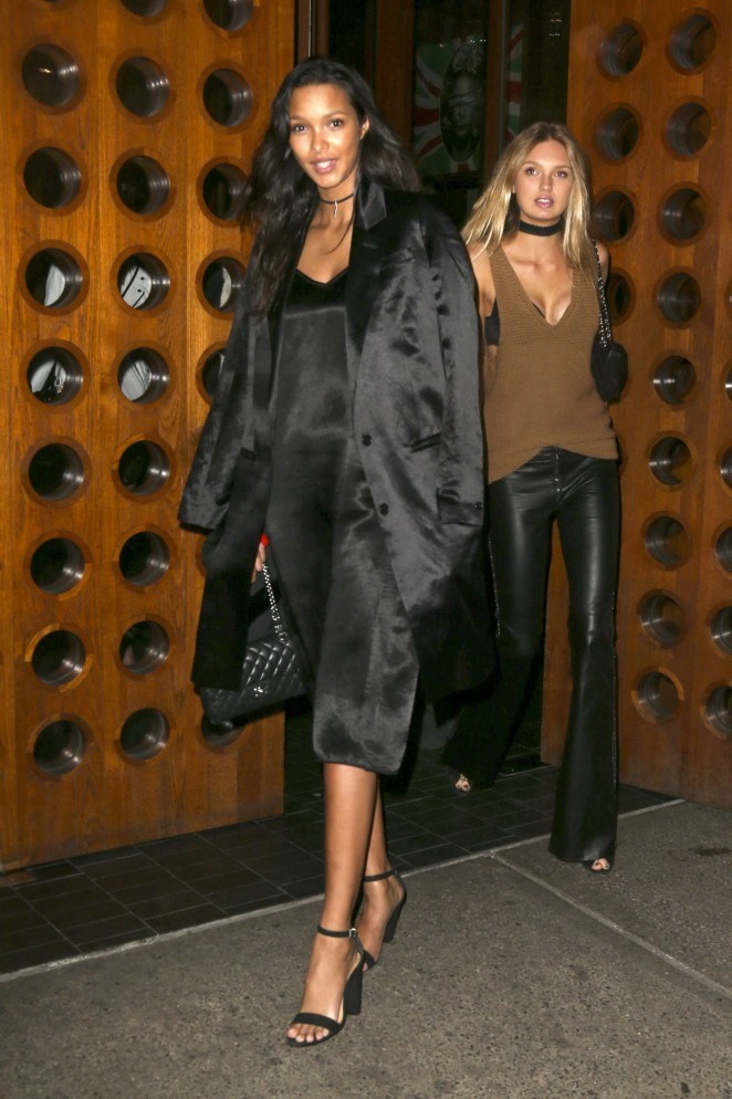 Romee Strijd, Lais Ribero and Martha Hunt Night out in New York