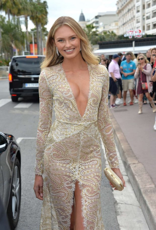Romee Strijd - Leaves the Hotel Martinez in Cannes