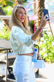 Romee Strijd - Shoots Selfies at Coachella Music Festival in Indio