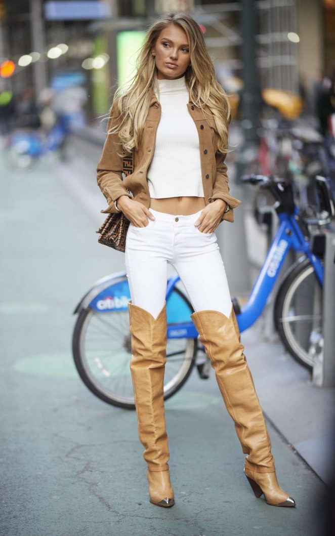Romee Strijd - Victoria's Secret Fittings in New York