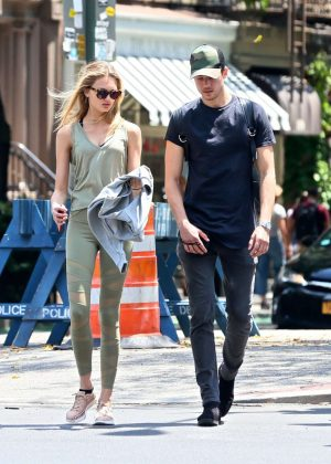 Romee Strijd With Her Boyfriend out in New York