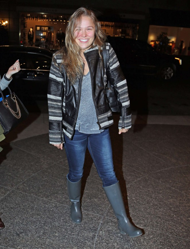 Ronda Rousey Arrived at her Hotel in New York City