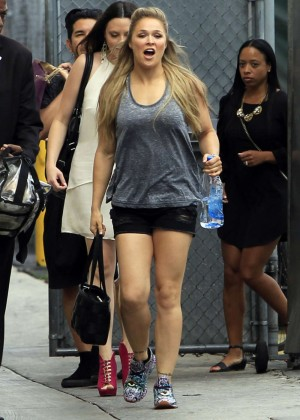 Ronda Rousey - Arrives at 'Jimmy Kimmel Live' in Hollywood