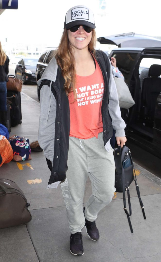 Ronda Rousey - Arriving at LAX Airport in Los Angeles